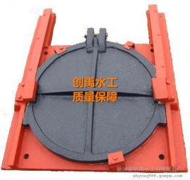 圆形500铸铁闸门0.5米圆铸铁闸门 创禹水工制造现货