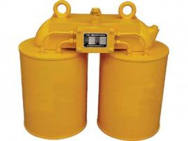 CF强磁电磁除铁器,建材专用双桶电磁铁,矿山悬挂式电磁除铁器