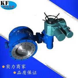 法兰固定电动球阀 Q947H电动铸钢硬密封固定式球阀