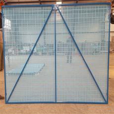 喷涂钢板安爬架网、冲压板爬架网颜色、爬架安全网