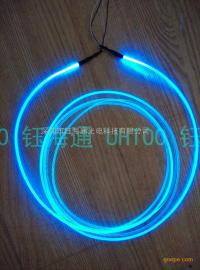实心光纤导光条 软弯曲发光装饰条 七彩梦幻变化线 水体轮廓发光
