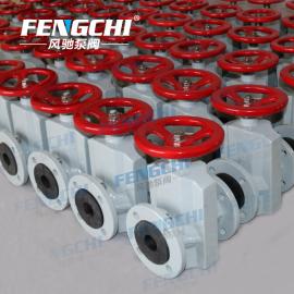 风驰泵阀手动管夹阀GJ41X,铝合金阀体,可选橡胶材质