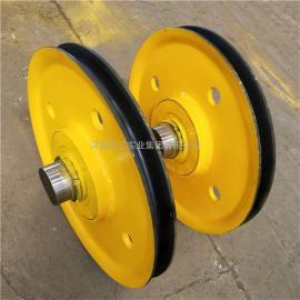 Q235热轧滑轮组 10T铸钢滑轮 起重机卷扬机定滑轮组 导绳轮