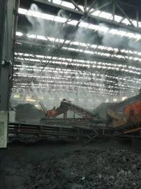 煤厂,煤矿大棚料仓喷淋降尘北京赛车安装,防尘效果显著