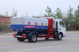 新款国六垃圾车大型挂桶垃圾车