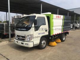 福田 2方扫地车 C证可开的柴油扫路车 清�哕�