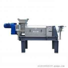 餐厨垃圾处理设备 潲水压榨机泔水尾菜脱水压榨机器螺旋挤压脱水