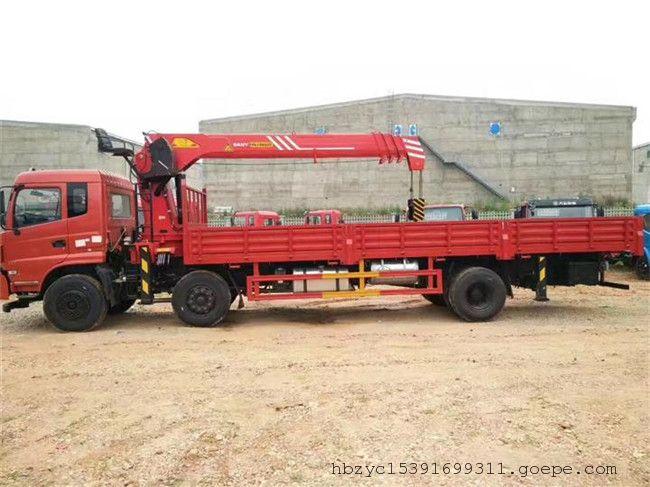 东风小三轴三一10吨随车吊