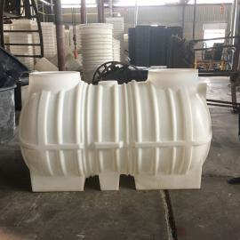 静 海2立方三格化粪池 PE化粪池农村家用化粪池滚塑一次成型