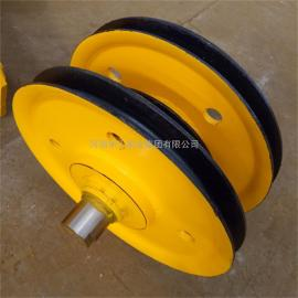 起重机铸钢热轧滑轮组16T 抓斗横梁滑轮组 卷扬机滑轮组 可定做