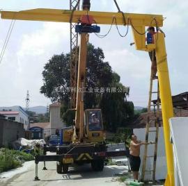 工地用悬臂吊,墙壁式悬臂吊,设计图,规格利欣提供