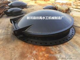DN1000FPM玻璃钢浮箱圆拍门 圆铸铁拍门 浮箱式铸铁圆拍门