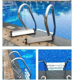 泳池专用扶梯,别墅泳池,私人泳池,国标池专用