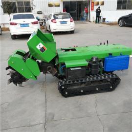 新款履带开沟机 农田施肥耕整机 开沟回填一体机