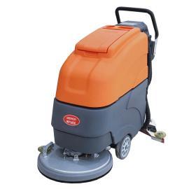 德克威诺 手推式电瓶洗地机用于物业保洁地下车库停车场候车大厅地面清洗 GRL510