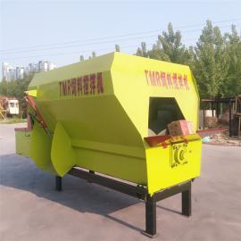 牛场TMR搅拌机 大型饲料混合机 TMR粉碎搅拌一体机