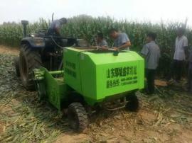 小麦秸秆玉米秸秆多功能打捆机 行走式圆捆塑料扎捆机