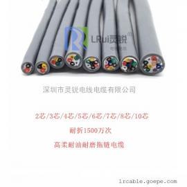 进口拖链电缆 美标拖链电缆 灵锐10芯拖链电缆 TRVV-10*26AWG