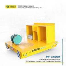电缆卷筒轨道平板车 电缆供电轨道电动平板车 平板工具车