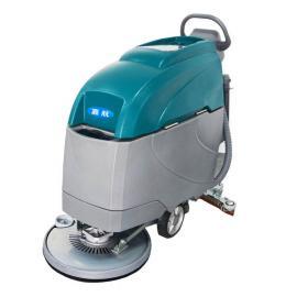 环氧地坪保洁用手推式洗地机|嘉航电瓶手推式洗地吸干机
