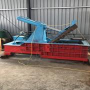 卧式金属废铝压块机 新型环保废旧铁销压块成型机