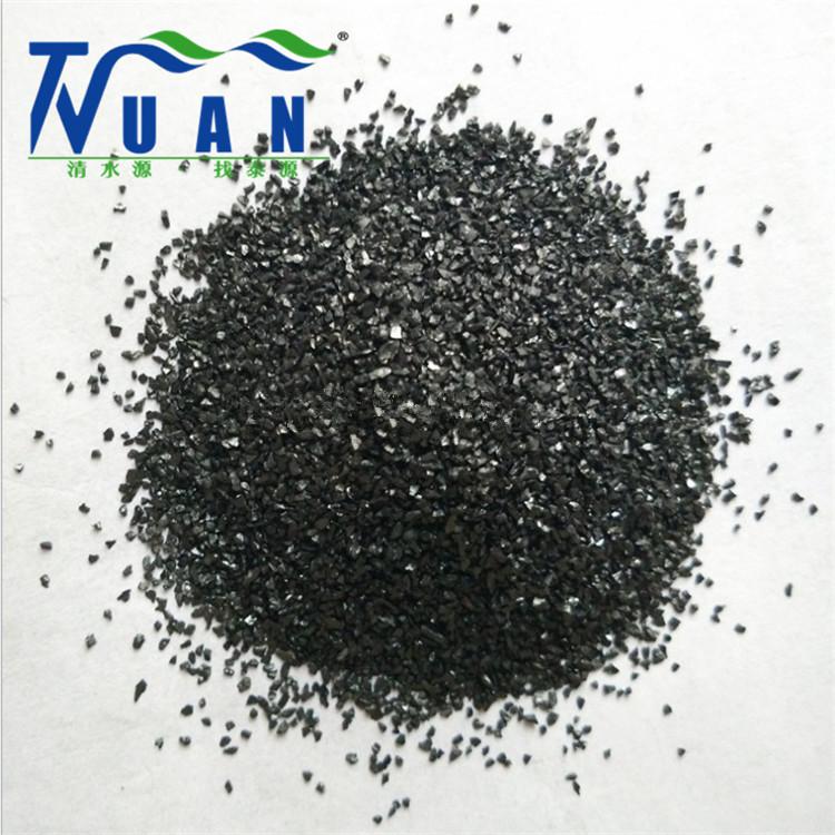 含碳量85%精制无烟煤滤料 过滤罐用无烟煤滤料