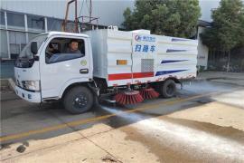 东风大型5吨干湿两用扫路车