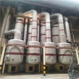 二手60吨四效五体降膜蒸发器调试