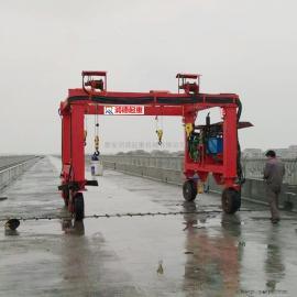 加工定做MH10t无轨电动行走小龙门吊 无轨龙门架