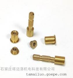 定制非标铜螺母 压花镶嵌螺母 点烟器烟镶嵌螺柱