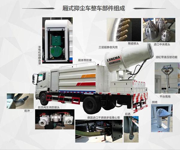 国六雾炮车|30-100米多功能抑尘车