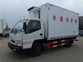 国六江铃顺达冷藏车报价/蓝牌4.2米冷藏车
