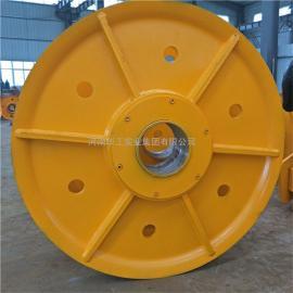 直径430轧制滑轮片 钢丝绳吊装滑轮 加筋加厚起重机定滑轮组