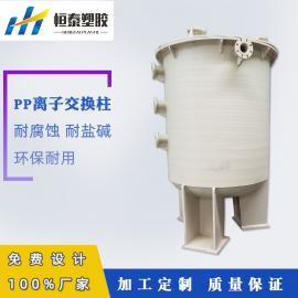 恒泰 非标定制聚丙烯离子交换柱 PP离子交换设备 离子交换器