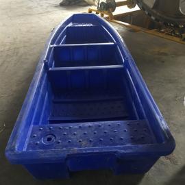 广 西4米河道捕捞船双层塑料渔船打捞船牛筋材质
