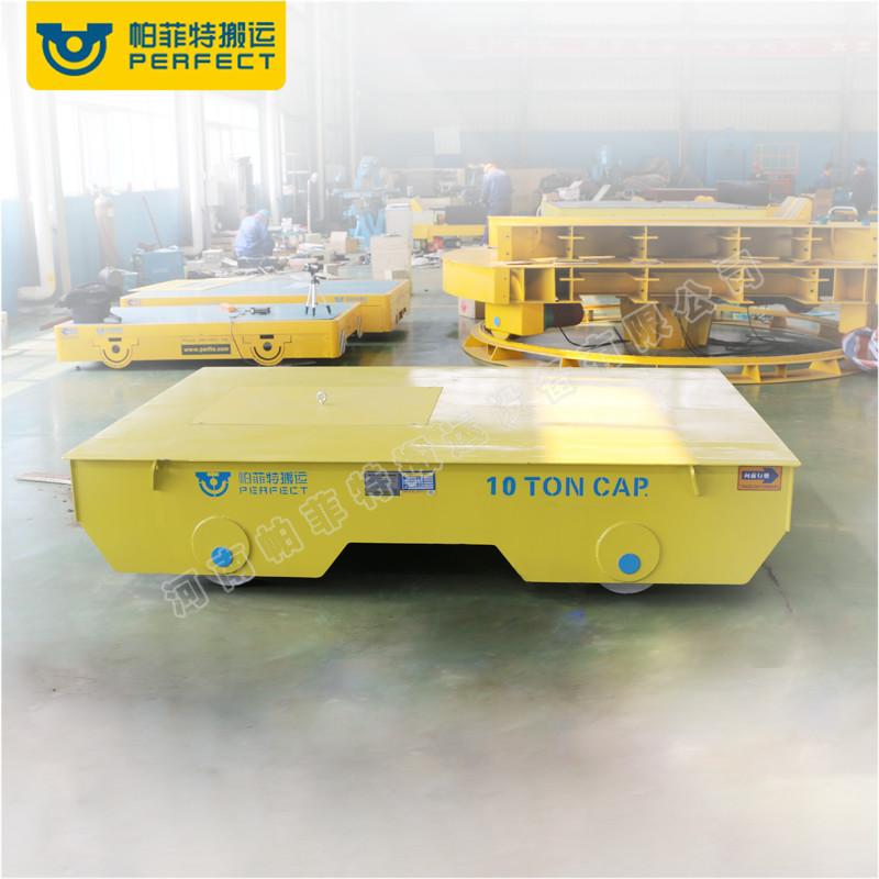 蓄电池电动轨道平车无轨胶轮车重载平板车