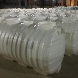 旱厕改造密封3立方化粪池三格式塑料化粪池