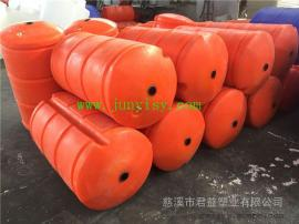 直径300长800水草拦截塑料PE浮筒 穿钢丝绳浮筒