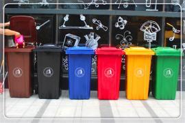 用塑料瓶做垃圾桶 做塑料分�垃圾桶的企�I