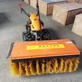手扶式小型除雪机汽油机路面积雪清理机手推式滚刷扫雪机厂里价