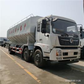 东风天锦小三轴30方散装饲料车厂家