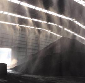 矿山矿场人造雾喷雾降尘设备