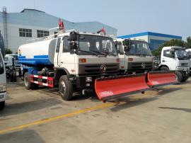 东风劲卡洒水车加装2.5米推雪铲