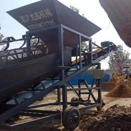 加轮子滚筒筛沙机 方便移动 龙鑫机械筛沙机一律出厂价