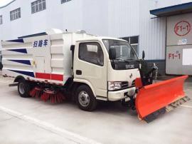 新款东风大多利卡扫路车加装2.5米清雪铲