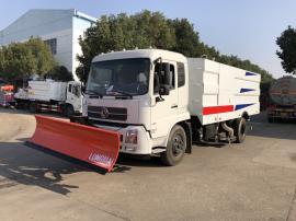 2019年款东风天锦扫路车加装3米推雪铲