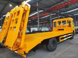 单桥天锦平板车 拉320型挖掘机的平板运输车