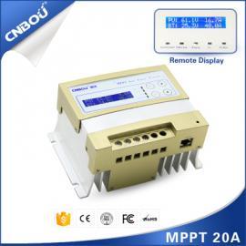 20A/博��MPPT太�能控制器12V/24V自�m��光伏充�升�嚎刂破�