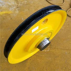 起重机定滑轮组 双梁吊钩铸钢滑轮组 天车轧制滑轮片 来图定做