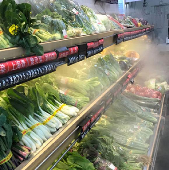 超市果蔬造雾水喷雾加湿保鲜设备